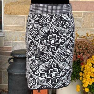 Dakini Black and White Knit Skirt